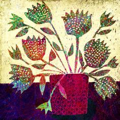 Michèle Brown Artist - The Old Cells Studio: Spotty Flowers