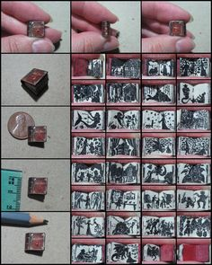 miniature book of shadow-style fairy tales. 1cm tall!!