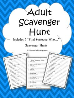 Adult Scavenger Hunt Adult Scavenger Hunt, Outdoor Scavenger Hunts, Funny Scavenger Hunt Ideas, Scavenger Hunt Riddles, Halloween Scavenger Hunt, Scavenger Hunt Birthday, Nature Scavenger Hunts, Easter Scavenger Hunt, Christmas Scavenger Hunt