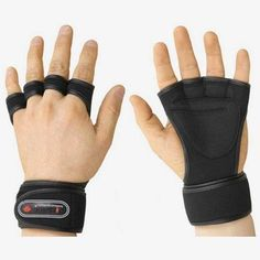 NEW-Weight-Lifting-Gloves-Fitness-Gym-Training-Crossfit-Long-Wrist-Wrap-Athlete