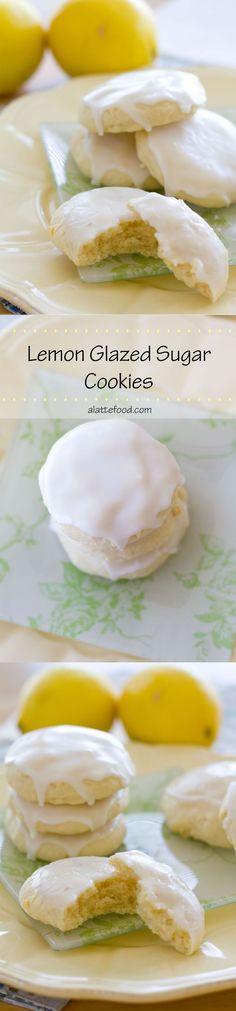 Lemon Glazed Soft-Baked Sugar Cookies | These soft-baked lemon sugar cookies are light, fluffy, incredibly delicious, and delightfully easy to make! Plus they have a secret ingredient that makes them extra good!