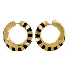 1stdibs.com   A Pair of Gold and Black Jade Earrings. Tiffany & Co.