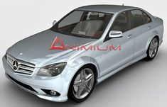 Mercedes C-Class C350 3d model with highly detailed exterior and interior.