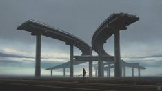 Russian artist Yuri Shwedoff makes all our nightmares come true in his post-apocalyptic art series that sees freeways shut down, space shuttle burnt out an Yuri Shwedoff, Post Apocalyptic Art, Apocalypse Art, Academic Art, Matte Painting, Art Series, Concept Art, Art Prints, Artists