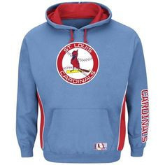 St. Louis Cardinals Majestic Cooperstown Collection Stadium Wear Pullover Hoodie - Light Blue