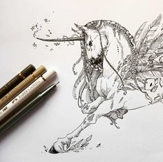 Unicorn  By @creative.girl_art