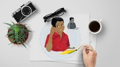 Teen Boy | Middle School Kids | African American Boy | Busy Thinking