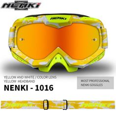 7b185d3f0e NENKI Motocross Goggles Motorcycle Racing Eyewear Skiing Snowboard Glasses  Colorful Lens Unisex DH MTB Glasses Single Lens
