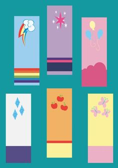 My Little Pony Friendship is Magic Bookmarks - Love these! I want them all! For every pony in Equestria!: