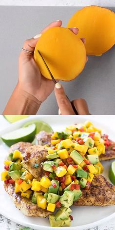 Poulet grillé avec MANGO AVOCADO SALSA – – You are in the right place about dinner recipe oven Here we offer you the most beautiful pictures about the dinner recipe soup you are looking for. When you examine the Poulet grillé avec MANGO AVOCADO SALSA[. Mango Salsa Recipes, Mango Avocado Salsa, Recipes With Mango, Healthy Delicious Recipes, Healthy Recipe Videos, Healthy Eating Recipes, Diabetic Recipes, Avocado Toast, Healthy Meal Prep