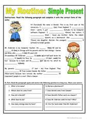 THE LAMBERT FAMILY worksheet - Free ESL printable worksheets made by teachers