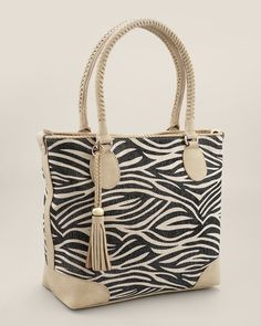 Zebra Tote from Chico's on shop.CatalogSpree.com, your personal digital mall.