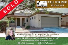 """Another SOLD Home this week! """"Walking Distance To All Amenities Buckeye Home""""     If you are looking for properties to sell, buy or to rent, let """"The Fry Team"""" make it simple for you. CALL 623-748-3818 or visit www.FryTeamAZ.com for more info.     #SOLD #HomeForSale #Residential #CentreAvenue #Buckeye #AZ #TheFryTeam #WestUSARealty #RealEstate"""