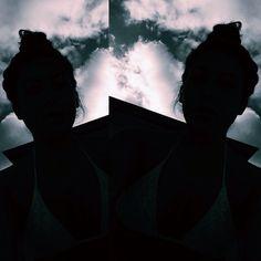silhouette selfie ⛅️ #dasamessybun #cloudz ☁️ #Padgram