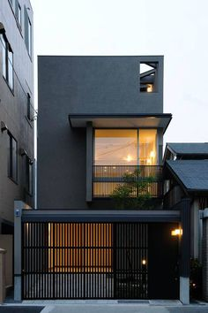 Modern Black House Exterior Design Ideas For Your Inspiration is part of exterior Design Architecture - Any project can't get the comprehensive beauty without proper care in the interior and exterior Therefore, the owners should not […] Modern Fence Design, Modern House Design, Simple House Design, Modern House Exteriors, Japan House Design, Villa Design, Minimalist House Design, Minimalist Home, Black House Exterior