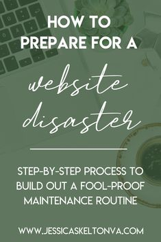 "Many website disasters are preventable... but do you know how?And those few disasters that are NOT preventable, do you know what to do if they happen?If you answer is ""no"" to either one of those questions, don't worry! I have a solution!  I put together what I call ""The Website Disaster Pack"". It is a mini-course that was built with the purpose of giving you a quick, simple, and effective plan to protect and prepare your website from catastrophe."