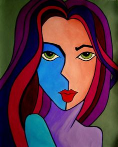 Art by Lourdes Slazyk. Modern pop; acrylic on canvas
