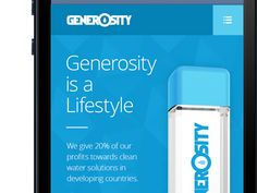 Generosity Water - Responsive Design - In Progress by Kevin O'Connor