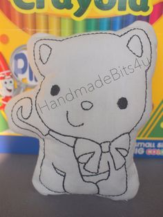 DoodleIts  Doodle It  Kitty Cat  Washable Softie by HandmadeBits4u