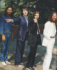 The Beatles during the Abbey Road cover shoot #peace #love #thebeatles #1969 #60s