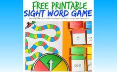 Free Printable Sight Word Game