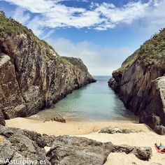 Villanueva beach in Llanes, Asturias. Also knows as Canal (The Channel) due to its peculiar shape, its an isolated but crowded beach especially in high season. #spain