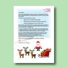 Editable Letter From Santa Printable Letter From By Printsbylj
