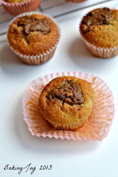 Cupcake Recipes : Banana Nutella Cupcakes