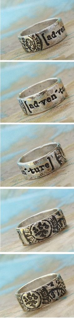 Unique Silver Jewelry, Handmade Silver Rings by HappyGoLicky | CLICK * use coupon code PIN10 to save 10% now.