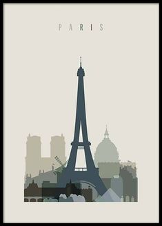 Paris Skyline Poster in the group Prints / Maps & cities at Desenio AB Online Posters, Buy Posters, Cool Posters, Horizon Paris, Buy World Map, Superhero Poster, World Map Poster, Photo Vintage, London Skyline