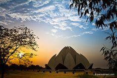 Sunset At Lotus Temple, Kalkaji, Delhi