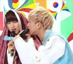 B1A4, Sandeul & Baro haha I love how he comes right back
