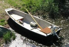"""A 15'8"""" fishing punt   Free Boat Plans"""