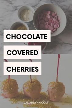 Needing a little to add a little glitz to an upcoming party? Try these chocolate covered cherries homemade. Whip up a batch of them in under ten minutes! With this pink and gold party food ideas tutorial you will learn the step by step recipe directions. And then simply add the cute cherries to a platter and put it on the dessert table ideas birthday. Dessert Table Birthday, Birthday Party Treats, Party Snacks, Birthday Parties, Easy Desserts, Delicious Desserts, Diy Party, Party Ideas, Ground Beef Recipes For Dinner