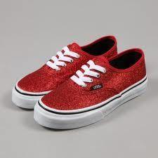 vans red sparkle shoes