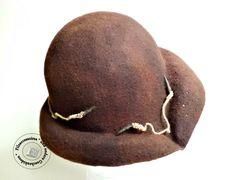 """Hüte - Filzhut Cloche handgefilzt """"Browny"""" - ein Designerstück von SweetDecor…"""