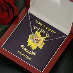 To My Daughter, You Are My Sunshine Necklace | Daughter Birthday, Chri – ShineOn.com