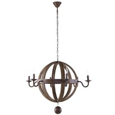 Catapult Chandelier in Antique Brass - From the Home Decor Discovery Community at www.DecoandBloom.com