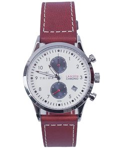 Buy Duke Lansen Chrono Brown Sewn Classic 2 Watches at the TRIWA online store Watch Model, Automatic Watch, Chronograph, Watches For Men, Duke, Brown, Classic, Accessories, Ss16