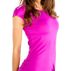 Alanic Global, reputed manufacturer, offers best quality of  bold pink hue fitness t-shirt at wholesale rate in USA, Australia and Canada.