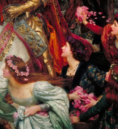 """The Two Crowns"" (1900) (detail) by Sir Francis Bernard Dicksee (1853-1928"