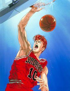 Slam Dunk Manga, Basketball Moves, Basketball Anime, Old Anime, Anime Manga, Anime Art, Michael Jordan Slam Dunk, Inoue Takehiko, Anime Tattoos