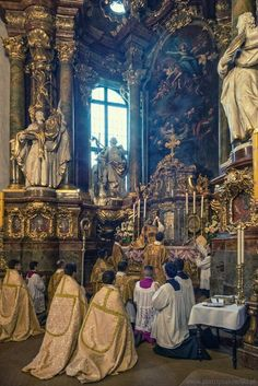 And I live now not I; but Christ liveth in me. And that I live now in the flesh: I live in the faith of the Son of God who loved me and delivered himself for me. Catholic Mass, Roman Catholic, Religious Images, Religious Art, Religion, Church Architecture, Cathedral Church, Blessed Mother, Kirchen
