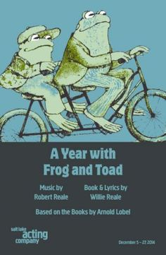 Salt Lake Acting Company - A Year with Frog and Toad. This is an amazing play! Runs through 12/27. Click link to get a code for $3 off ticket price. #SLC #SLAC #Utah