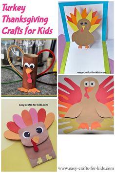 Thanksgiving crafts for kids - turkey crafts for children