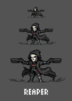[Pixel Art] - Reaper / Gabriel Reyes Overwatch Sprite Twitter: pic.twitter.com/OOGxzbwMlZ