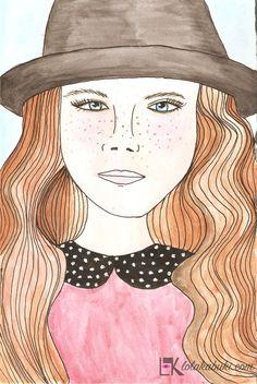 RETRATOS SIMPLES  #love #art #watercolor #paintings #illustration