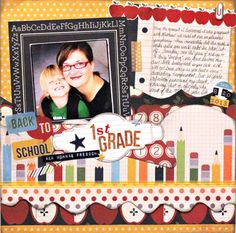 Layout created by Kiwi Lanes designer Kristy Lee using our Smarty Pants collection