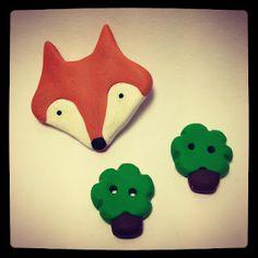 DIY Polymer Clay buttons. inspiration Fräulein Rohmilch