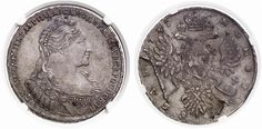Rouble. Russian Coins. Anna 1730-1740. 1737. Bit 135. About uncirculated. Price realized 2011: 1.800 USD.